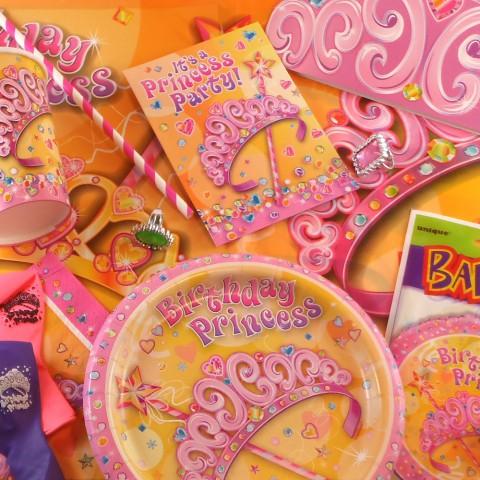 Boîte décoration anniversaire princesses