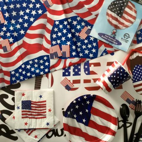 Boîte décoration soirée USA